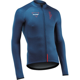 Northwave Blade 3 Maillot Manga Larga Hombre, blue/lobster orange